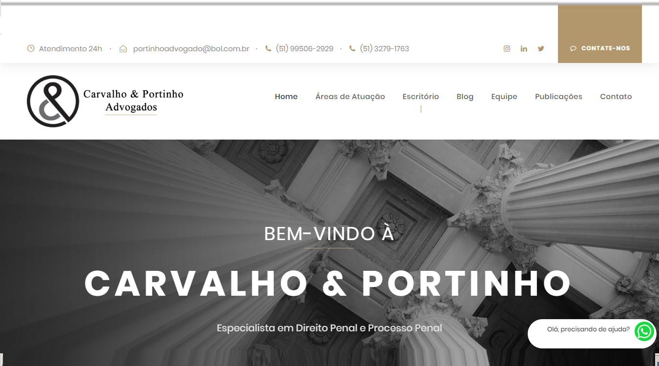 Projeto Carvalho & Portinho Advogados