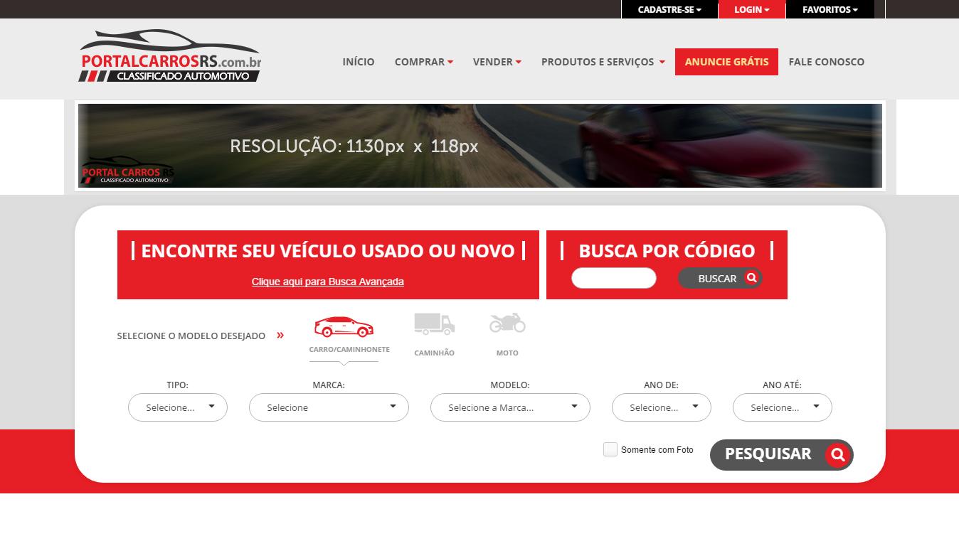 Projeto Portal Carros RS